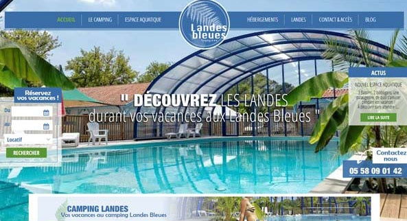 Landes bleues camping